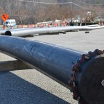 Pressure testing DIPS DR-11 HDPE pipe joints image